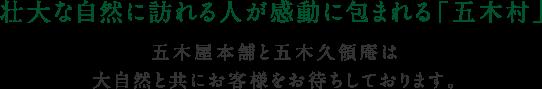 壮大な自然に訪れる人が感動に包まれる「五木村」